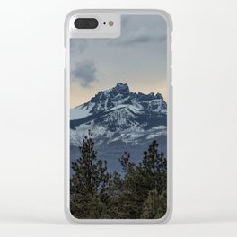Good Night Mountain Clear iPhone Case