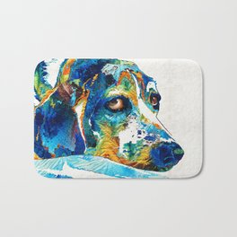 Colorful Beagle Dog Art By Sharon Cummings Bath Mat