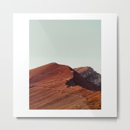 Orange mountains Metal Print