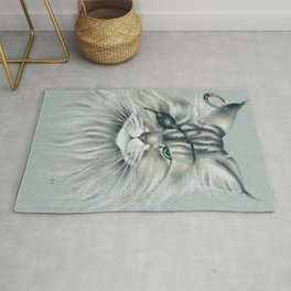 Pirate Maine Coon Tabby Cat Rug