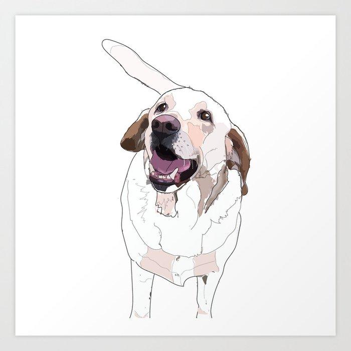Labrador Dog (white) Kunstdrucke
