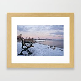 Winter dawns in Toronto, Canada Framed Art Print