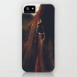 Horse photography, high quality, nature landscape fine art print iPhone Case