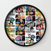 Faces of Who Wall Clock