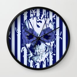 Limbo in navy color palette Wall Clock