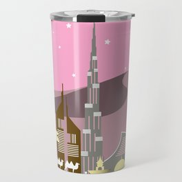 Pink Dubai Travel Mug
