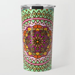 Circle of Flowers Travel Mug
