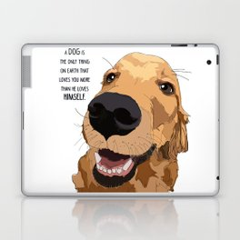 Golden Retriever Love Laptop & iPad Skin
