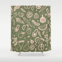 Fruits & Veg Shower Curtain