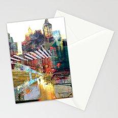 City landscape Stationery Cards