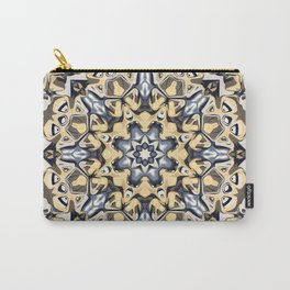 Silver And Gold Abstract Carry-All Pouch