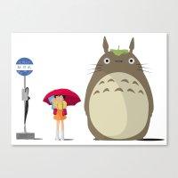 ghibli Canvas Prints featuring Studio Ghibli by adovemore