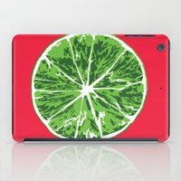 lime iPad Cases featuring Lime by Kcin
