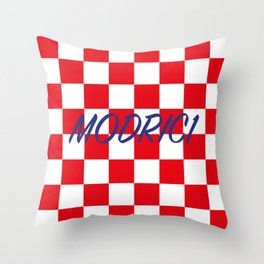 Lukas Modric number one Throw Pillow