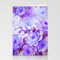 shabby chic Stationery Cards featuring Shabby Chic Purple by Jacqueline Maldonado