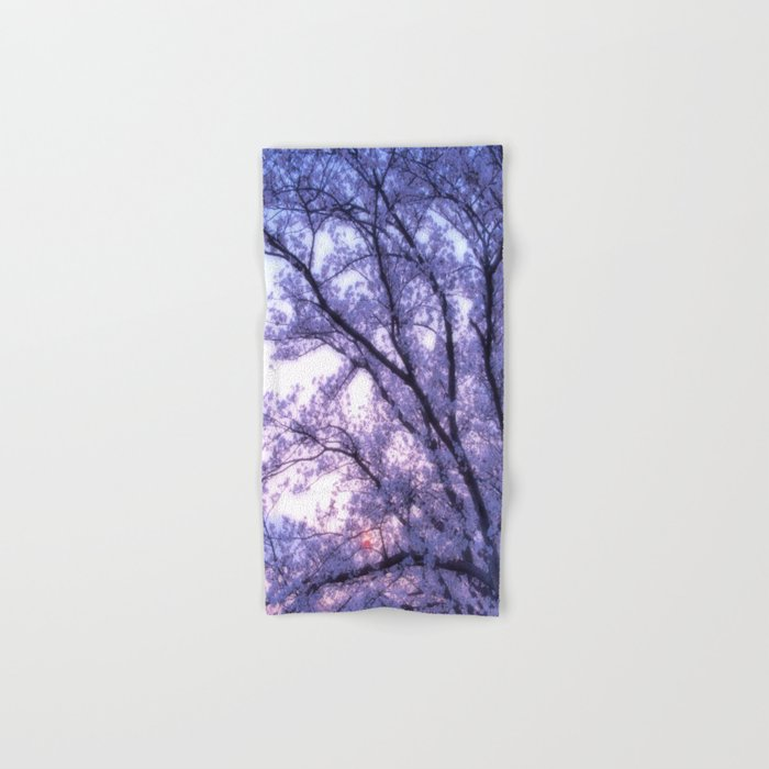 Periwinkle Lavender Flower Tree Hand & Bath Towel