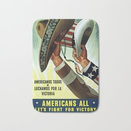 Americans All - Let's Fight for Victory Bath Mat