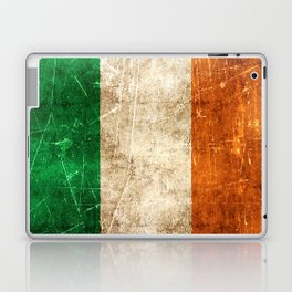 Vintage Aged and Scratched Irish Flag Laptop & iPad Skin