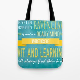 Wise Old Ravenclaw Tote Bag