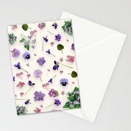 Delicate Violets Stationery Cards