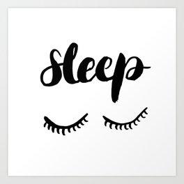 Sleep with Eyelashes Art Print