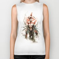 ghost Biker Tanks featuring GHOST by AkiMao