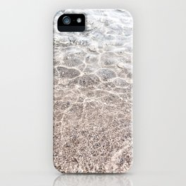 Clear sea with sun reflections iPhone Case