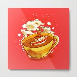 Shipping Coffee Metal Print