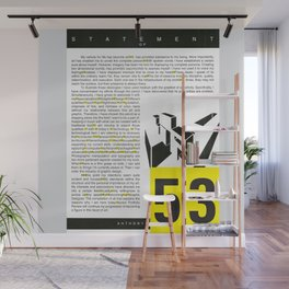 cry me a typography river — 53 gaps ( infographic ) Wall Mural