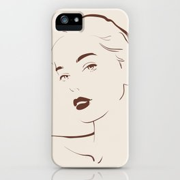 Femme Fatale Ashley iPhone Case