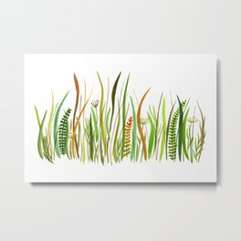 Prairie Watercolor by Robayre Metal Print