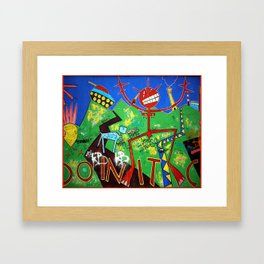 The 25th  anniversary of the fall of the Berlin Wall - (artist unknown), Photo by Chicca Besso Framed Art Print