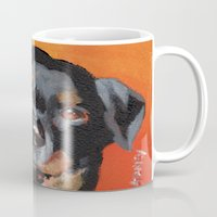 rottweiler Mugs featuring Rottweiler by Stanley Arts