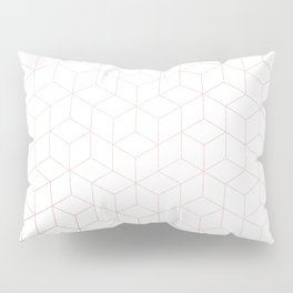 Simply Cubic in Rose Gold Sunset Pillow Sham