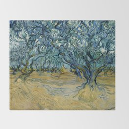 "Vincent Van Gogh ""The Olive Trees, Saint-Rémy"" Throw Blanket"