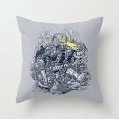 Zombie Exterminator Throw Pillow