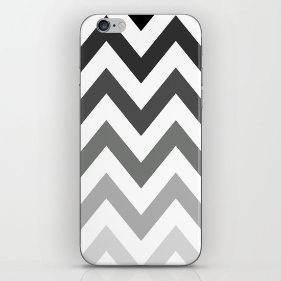BLACK/GRAY OMBRÉ CHEVRON iPhone & iPod Skin