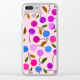 cherry-berrie jumble ... Clear iPhone Case