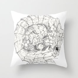 Scaley Knight Throw Pillow