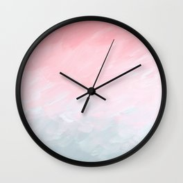 Blush Fade Wall Clock