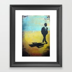 in rides the truth Framed Art Print