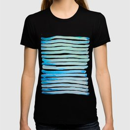 New Year Blue Water Lines T-shirt