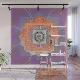 Holographic Healing Sacred Geometry Texture Mandala Wall Mural