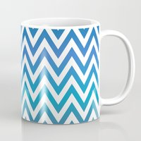 chevron Mugs featuring Chevron by David Zydd