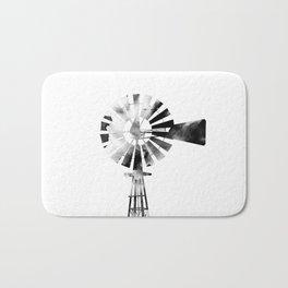 Windmill 2 #blackandwhite Bath Mat