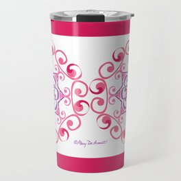 Grace Mandala x 2 - Pink White Travel Mug