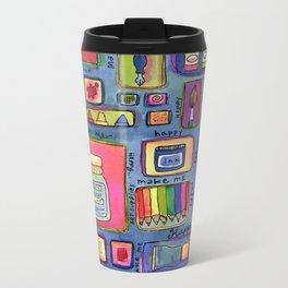 Art Supplies Make Me Happy Metal Travel Mug