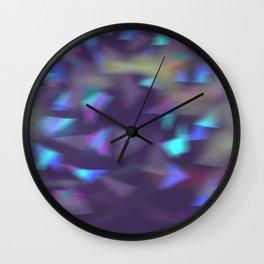 Christmas lights violet Wall Clock