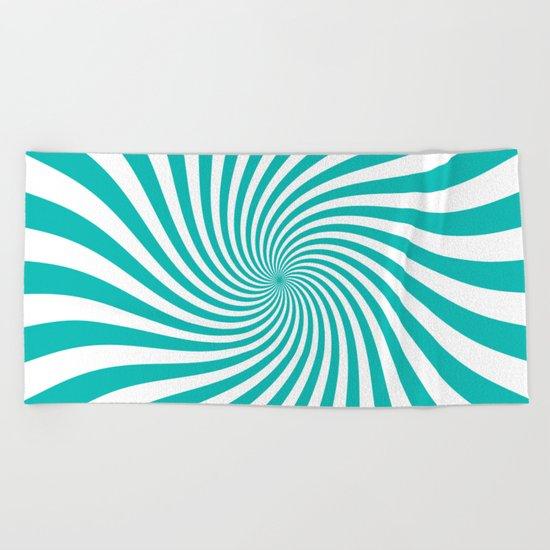 Swirl (Tiffany Blue/White) Beach Towel