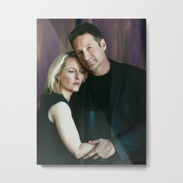 Gillian Anderson and David Duchovny oil color painting Metal Print